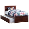 Madison Platform Bed with Matching Footboard - Antique Walnut Madison Platform Bed with Matching Footboard - Antique Walnut
