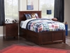 Madison Platform Bed with Matching Footboard - Antique Walnut - AR86X6X14