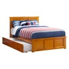 Madison Platform Bed with Matching Footboard - Caramel Latte Madison Platform Bed with Matching Footboard - Caramel Latte