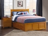 Madison Platform Bed with Matching Footboard - Caramel Latte - AR86X6X17