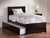 Madison Platform Bed with Matching Footboard - Espresso - AR86X6X11