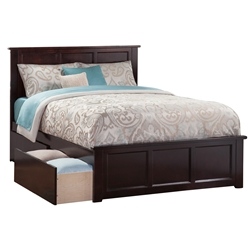 Madison Platform Bed with Matching Footboard - Espresso Madison Platform Bed with Matching Footboard - Espresso