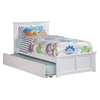 Madison Platform Bed with Matching Footboard - White - AR86X6X12
