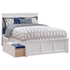 Madison Platform Bed with Matching Footboard - White Madison Platform Bed with Matching Footboard - White