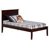 Madison Platform Bed with Open Footrails - Antique Walnut Madison Platform Bed with Open Footrails - Antique Walnut