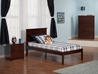 Madison Platform Bed with Open Footrails - Antique Walnut - AR8621004