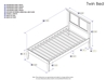 Madison Platform Bed with Open Footrails - Antique Walnut - AR86X1004