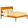 Madison Platform Bed with Open Footrails - Caramel Latte - AR8621007