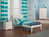 Madison Platform Bed with Open Footrails - White - AR8621002