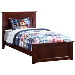 Madison Traditional Bed with Matching Footboard - Antique Walnut Madison Traditional Bed with Matching Footboard - Antique Walnut