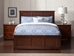 Madison Traditional Bed with Matching Footboard - Antique Walnut - AR86X6034