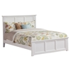 Madison Traditional Bed with Matching Footboard - White Madison Traditional Bed with Matching Footboard - White