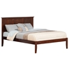 Madison Traditional Bed with Open Footrails - Antique Walnut - AR86X1034