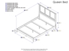 Madison Traditional Bed with Open Footrails - White - AR86X1032