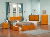 Metro Platform Bed with Flat Panel Footboard - Caramel Latte - AR90X2X17