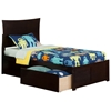 Metro Platform Bed with Flat Panel Footboard - Espresso Metro Platform Bed with Flat Panel Footboard - Espresso