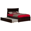 Metro Platform Bed with Flat Panel Footboard - Espresso - AR90X2X11
