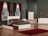 Metro Platform Bed with Flat Panel Footboard - White - AR90X2X12