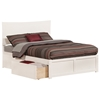 Metro Platform Bed with Flat Panel Footboard - White Metro Platform Bed with Flat Panel Footboard - White