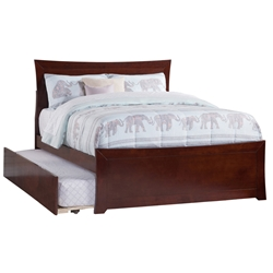 Metro Platform Bed with Matching Footboard - Antique Walnut Metro Platform Bed with Matching Footboard - Antique Walnut