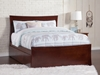 Metro Platform Bed with Matching Footboard - Antique Walnut - AR90X6X14
