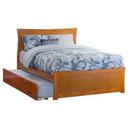 Metro Platform Bed with Matching Footboard - Caramel Latte Metro Platform Bed with Matching Footboard - Caramel Latte