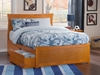 Metro Platform Bed with Matching Footboard - Caramel Latte - AR90X6X17
