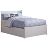 Metro Platform Bed with Matching Footboard - White Metro Platform Bed with Matching Footboard - White