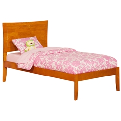 Metro Platform Bed with Open Footrails - Caramel Latte Metro Platform Bed with Open Footrails - Caramel Latte