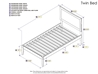 Metro Platform Bed with Open Footrails - White - AR90X1002