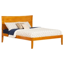 Metro Traditional Bed with Open Footrails - Caramel Latte Metro Traditional Bed with Open Footrails - Caramel Latte