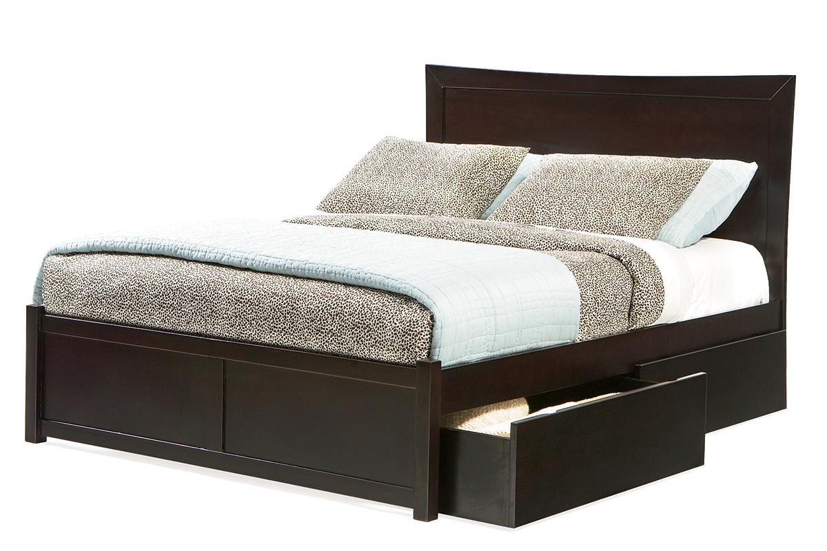 Miami Platform Bed Flat Panel Footboard