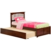 Mission Platform Bed with Flat Panel Footboard - Antique Walnut - AR87X2X14