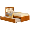 Mission Platform Bed with Flat Panel Footboard - Caramel Latte Mission Platform Bed with Flat Panel Footboard - Caramel Latte