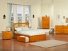 Mission Platform Bed with Flat Panel Footboard - Caramel Latte - AR87X2X17