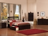 Mission Platform Bed with Flat Panel Footboard - Espresso - AR87X2X11