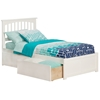 Mission Platform Bed with Flat Panel Footboard - White Mission Platform Bed with Flat Panel Footboard - White