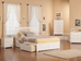 Mission Platform Bed with Flat Panel Footboard - White - AR87X2X12