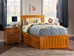 Mission Platform Bed with Matching Footboard - Caramel Latte - AR87X6X17