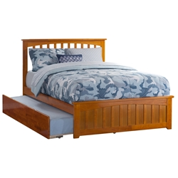 Mission Platform Bed with Matching Footboard - Caramel Latte Mission Platform Bed with Matching Footboard - Caramel Latte