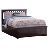Mission Platform Bed with Matching Footboard - Espresso Mission Platform Bed with Matching Footboard - Espresso