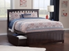 Mission Platform Bed with Matching Footboard - Espresso - AR87X6X11