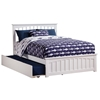 Mission Platform Bed with Matching Footboard - White - AR87X6X12