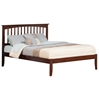 Mission Platform Bed with Open Footrails - Antique Walnut Mission Platform Bed with Open Footrails - Antique Walnut