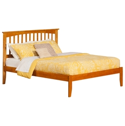 Mission Platform Bed with Open Footrails - Caramel Latte Mission Platform Bed with Open Footrails - Caramel Latte