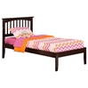 Mission Platform Bed with Open Footrails - Espresso - AR87X1001