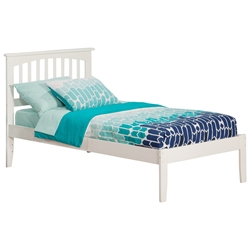 Mission Platform Bed with Open Footrails - White Mission Platform Bed with Open Footrails - White