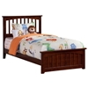Mission Traditional Bed with Matching Footboard - Antique Walnut - AR87X6034
