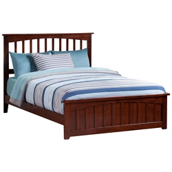 Mission Traditional Bed with Matching Footboard - Antique Walnut Mission Traditional Bed with Matching Footboard - Antique Walnut