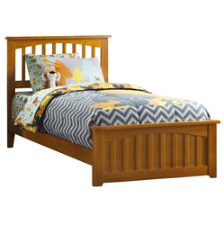 Mission Traditional Bed with Matching Footboard - Caramel Latte Mission Traditional Bed with Matching Footboard - Caramel Latte